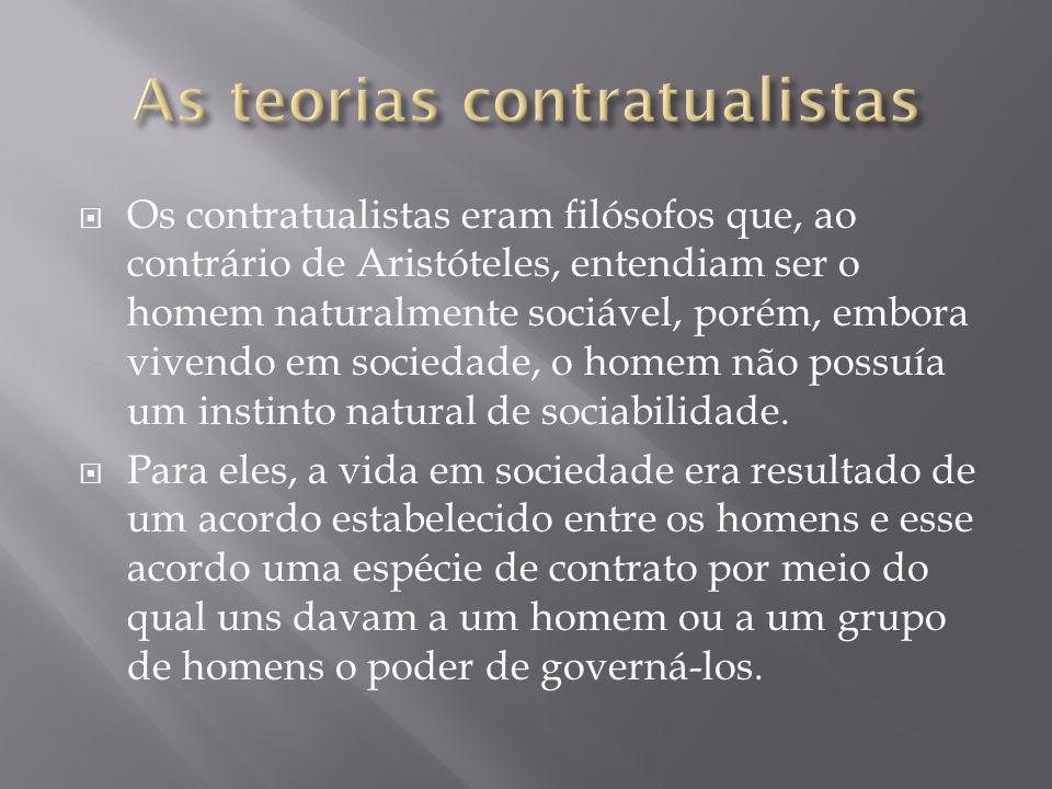 As teorias contratualistas