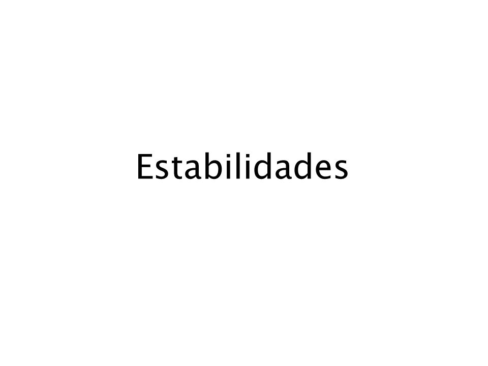 Estabilidades