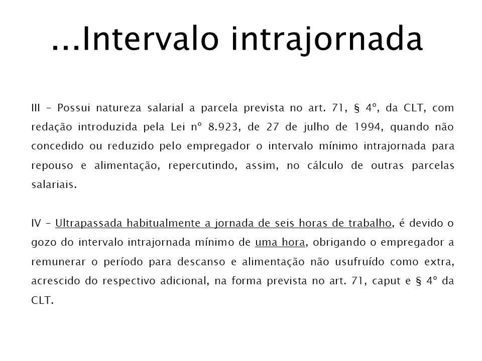...Intervalo intrajornada