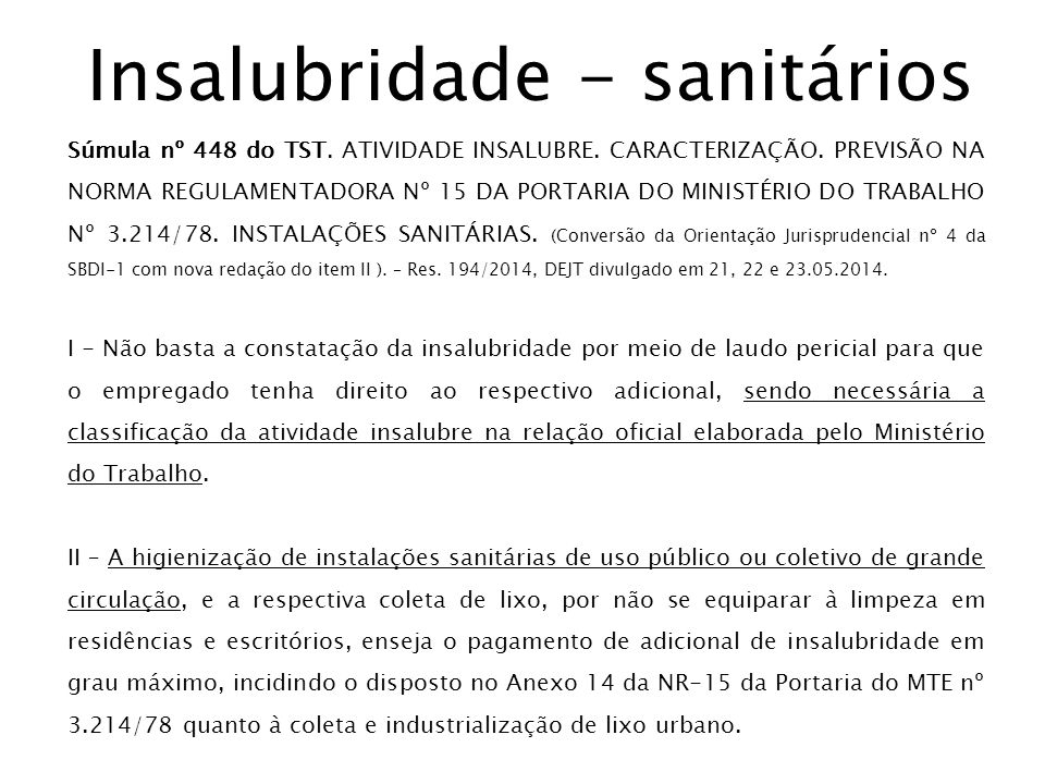 Insalubridade - sanitários