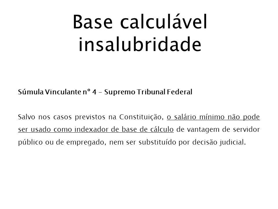 Base calculável insalubridade