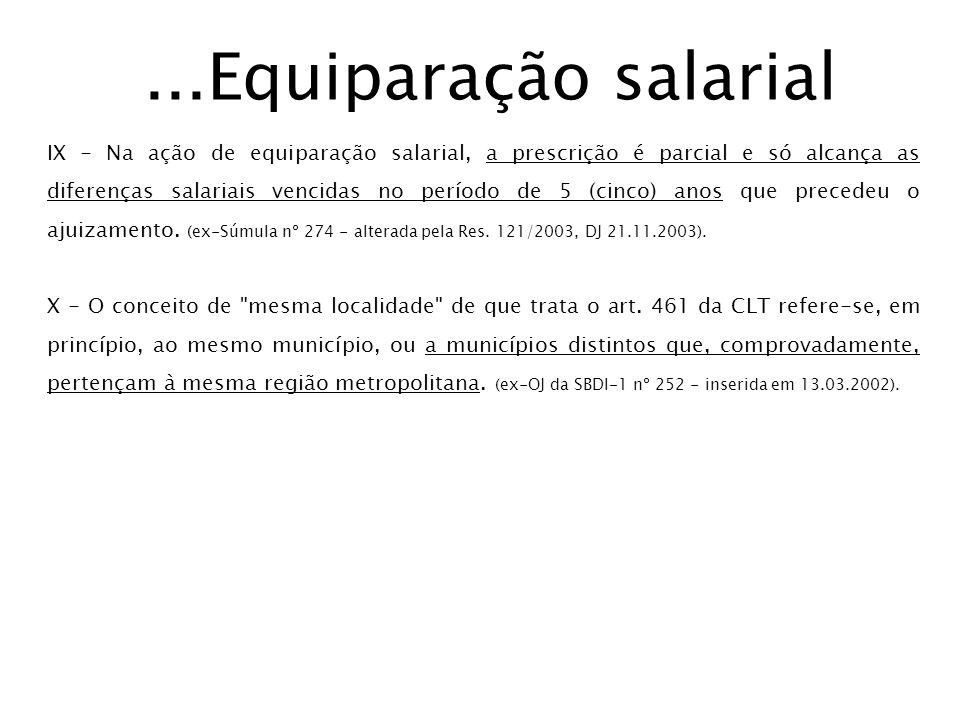 ...Equiparação salarial
