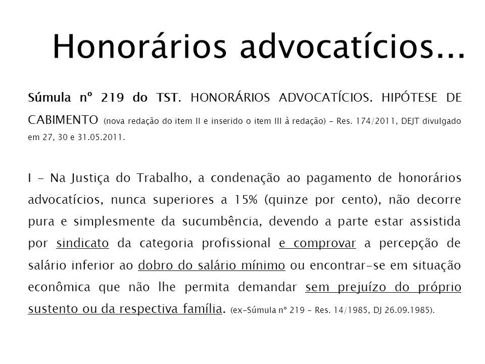 Honorários advocatícios...