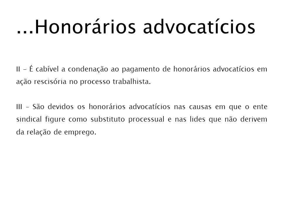 ...Honorários advocatícios