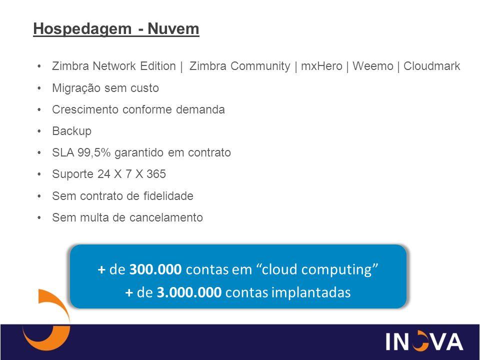 + de 300.000 contas em cloud computing