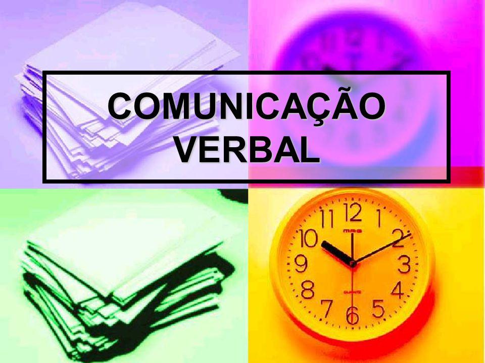 COMUNICAÇÃO VERBAL