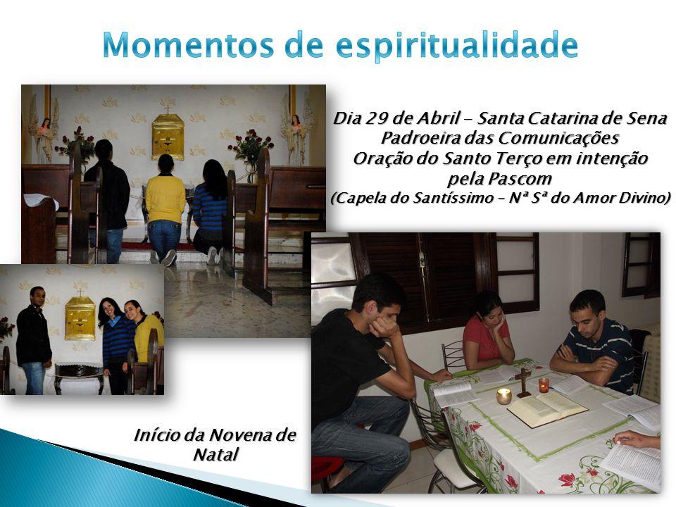Momentos de espiritualidade Início da Novena de Natal
