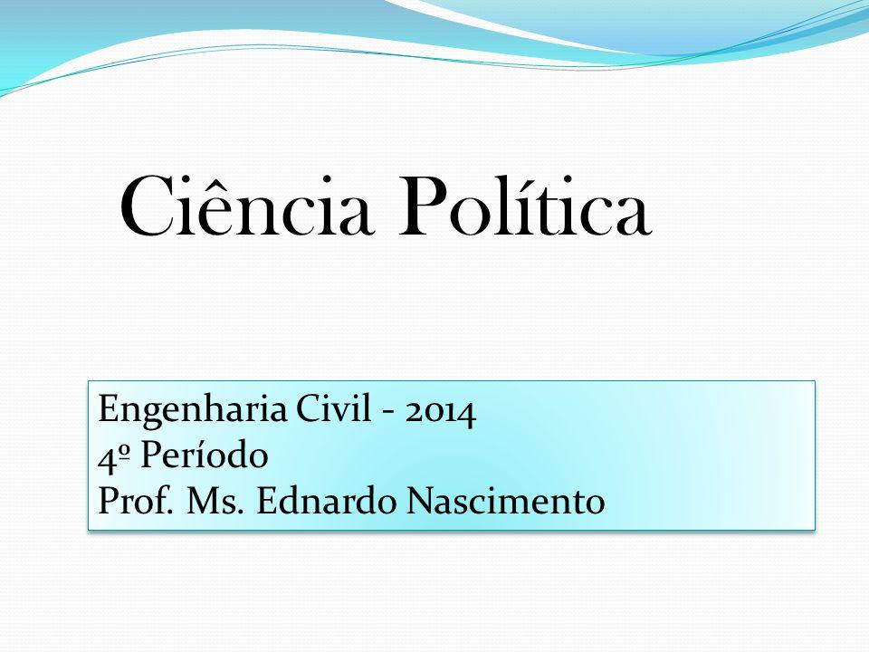Ciência Política Engenharia Civil - 2014 4º Período