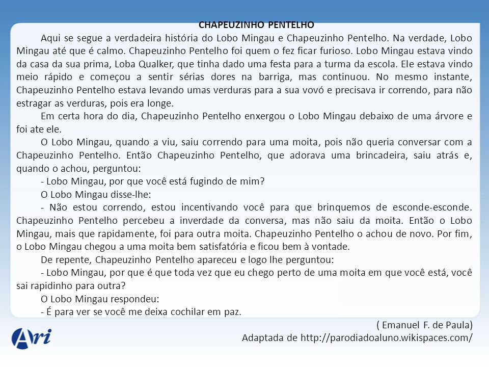 CHAPEUZINHO PENTELHO