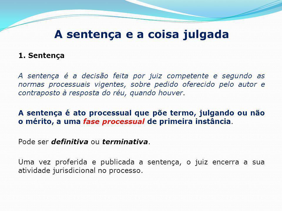 A sentença e a coisa julgada