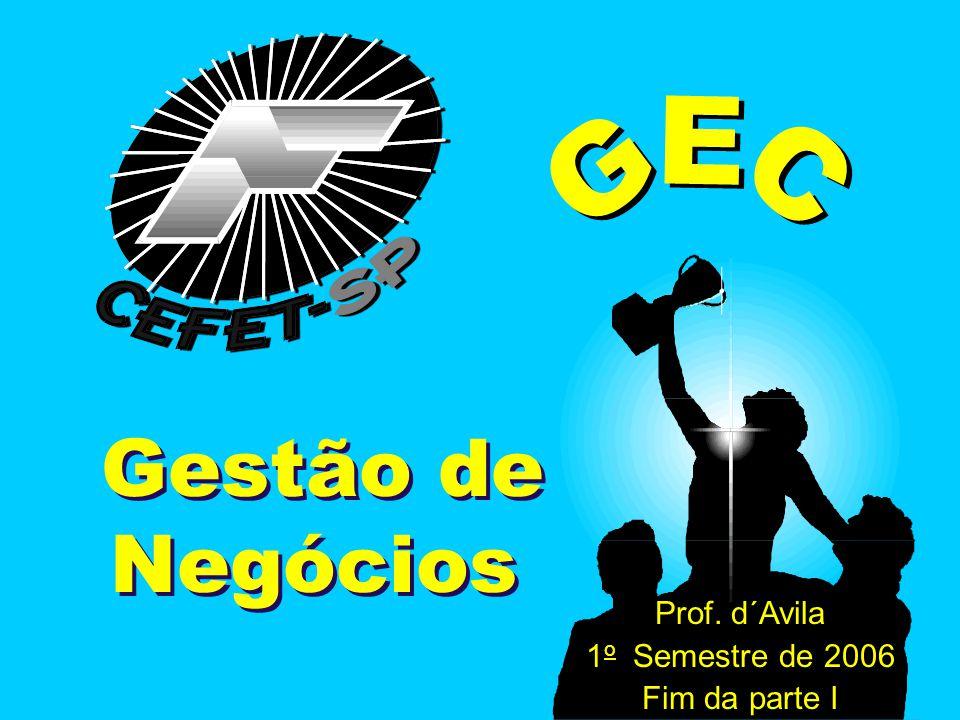 GEC GEC Gestão de Negócios Prof. d´Avila 1o Semestre de 2006