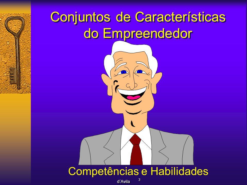 Conjuntos de Características do Empreendedor
