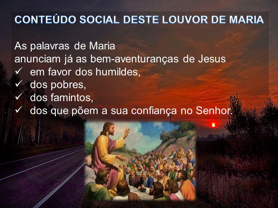 CONTEÚDO SOCIAL DESTE LOUVOR DE MARIA