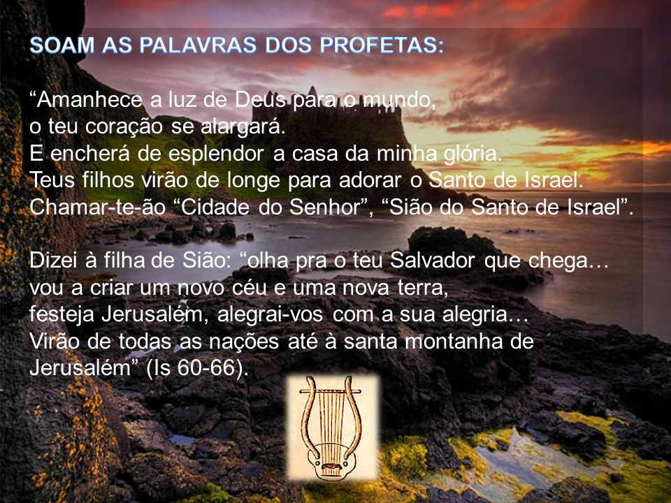 SOAM AS PALAVRAS DOS PROFETAS: