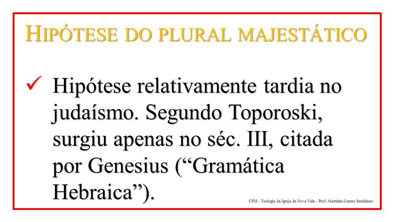 Hipótese do plural majestático