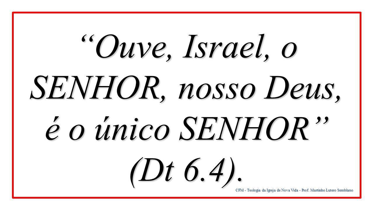 Ouve, Israel, o SENHOR, nosso Deus, é o único SENHOR (Dt 6.4).