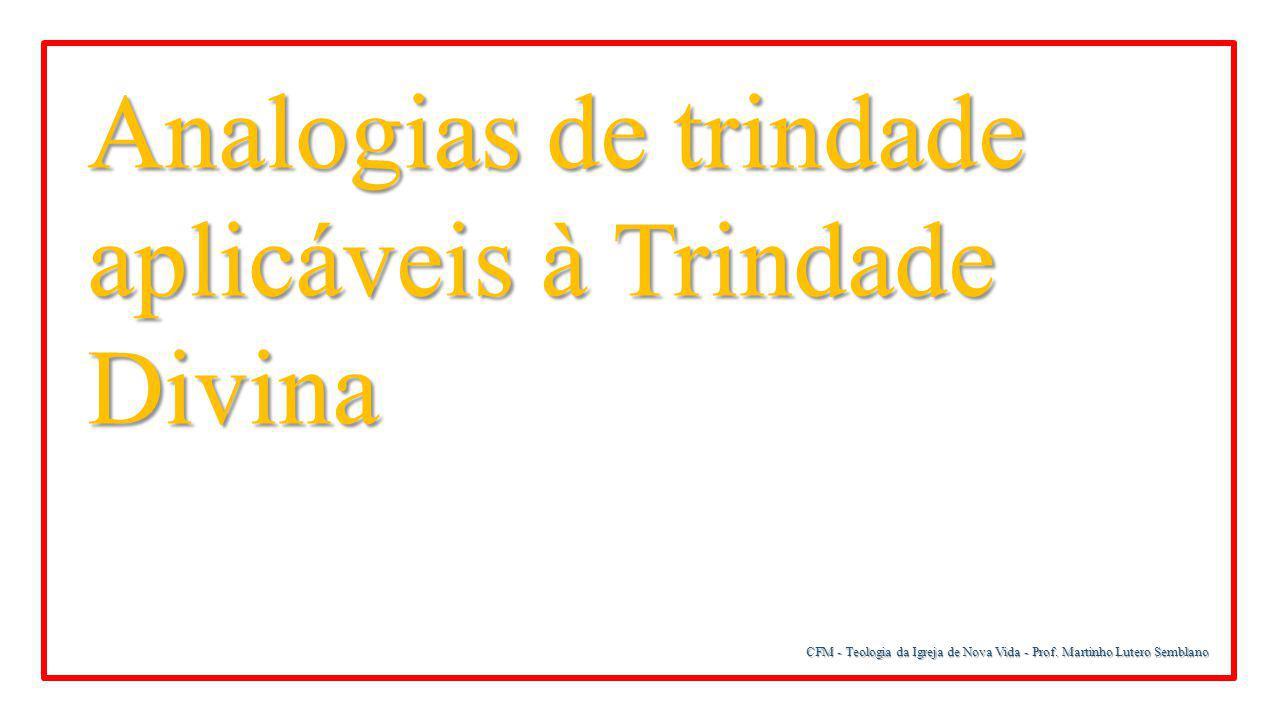 Analogias de trindade aplicáveis à Trindade Divina