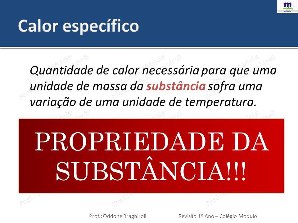 PROPRIEDADE DA SUBSTÂNCIA!!!