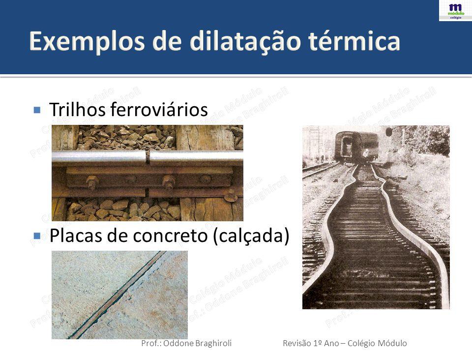 Exemplos de dilatação térmica