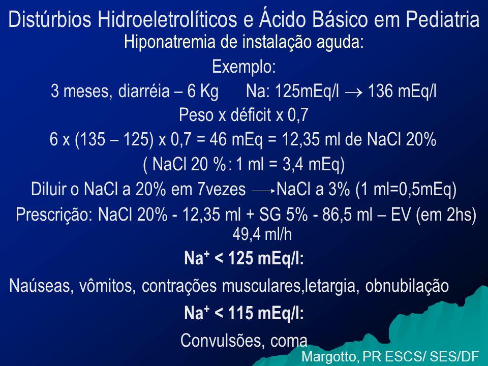 Distúrbios Hidroeletrolíticos e Ácido Básico em Pediatria