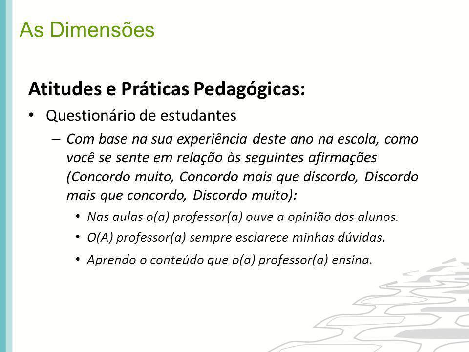 Atitudes e Práticas Pedagógicas: