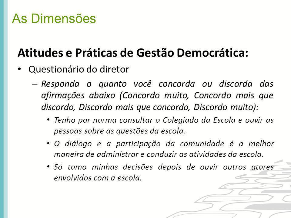 Atitudes e Práticas de Gestão Democrática: