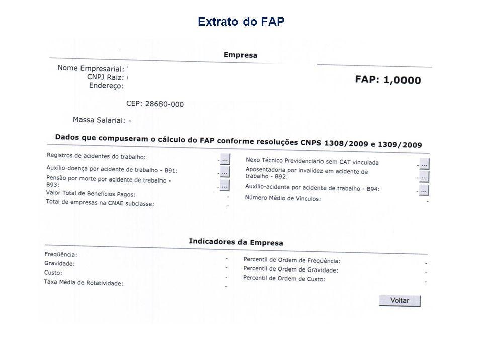 Extrato do FAP