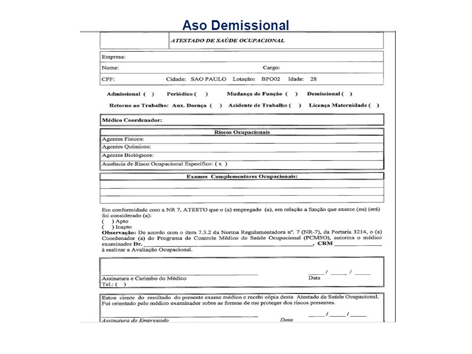 Aso Demissional