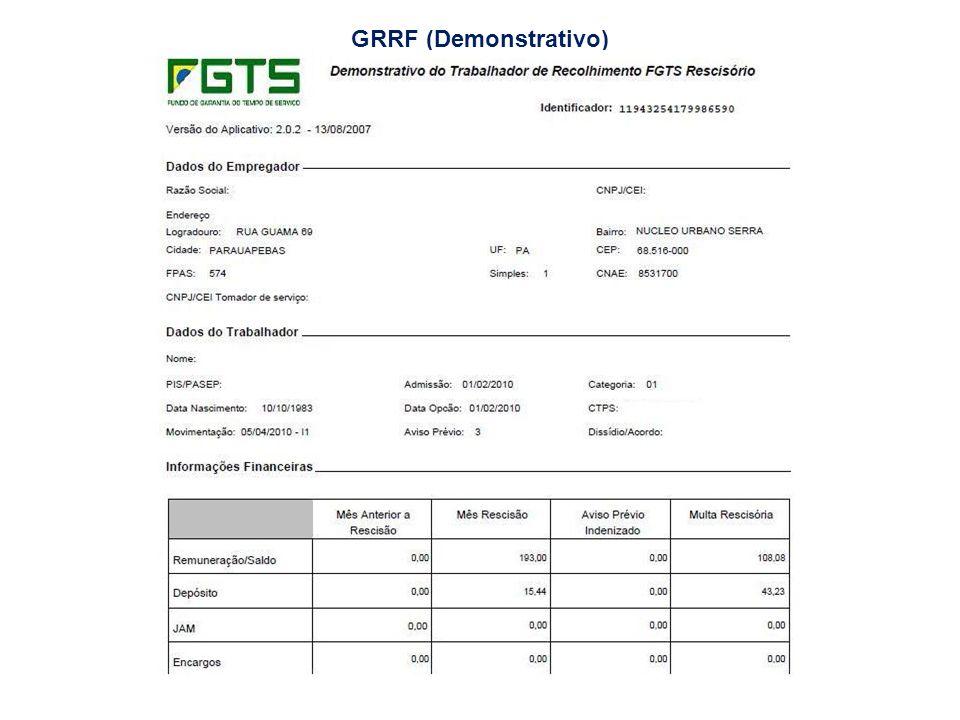 GRRF (Demonstrativo)