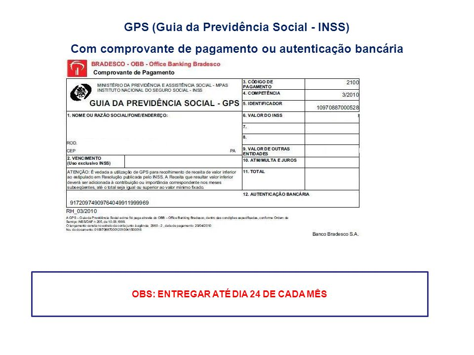 GPS (Guia da Previdência Social - INSS)