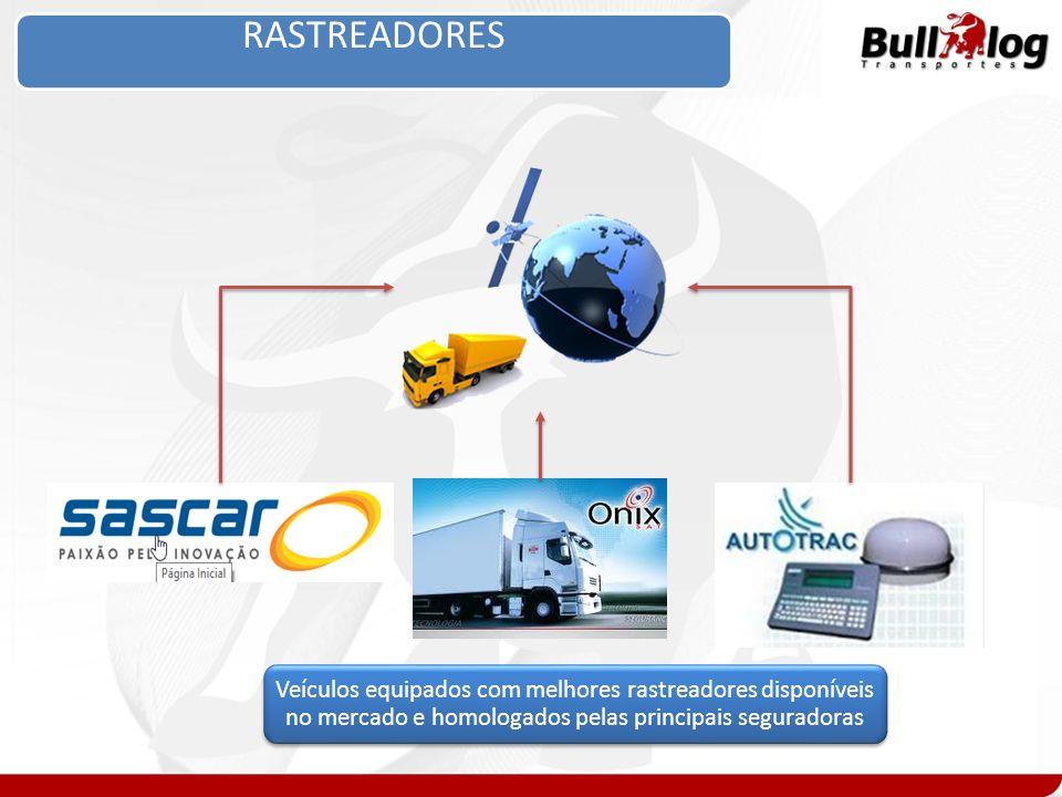 RASTREADORES Veículos equipados com melhores rastreadores disponíveis no mercado e homologados pelas principais seguradoras.