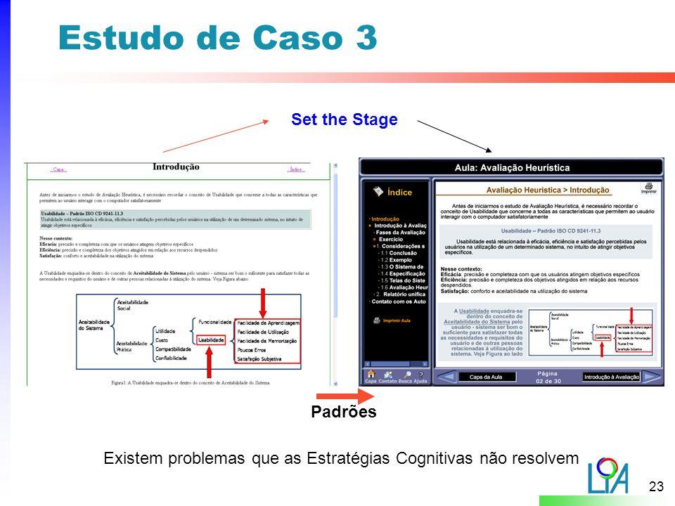 Estudo de Caso 3 Set the Stage Padrões