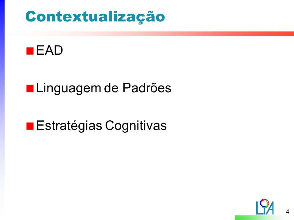 Contextualização EAD Linguagem de Padrões Estratégias Cognitivas