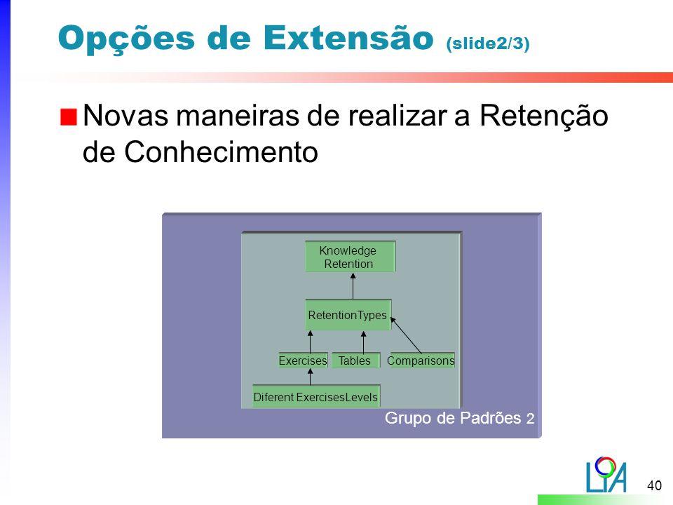 Opções de Extensão (slide2/3)