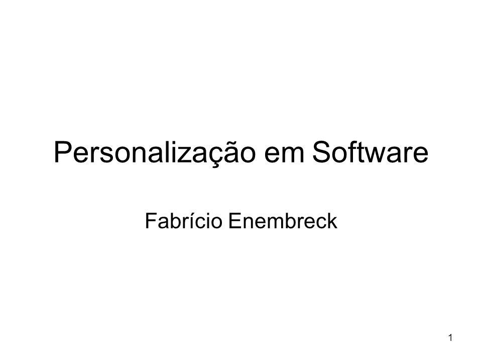 Personalização em Software