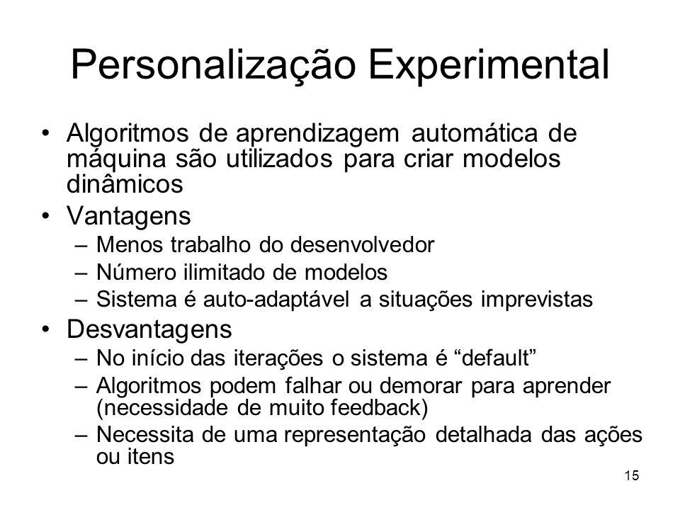 Personalização Experimental