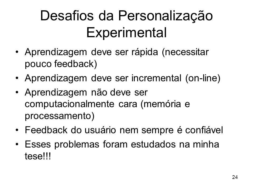 Desafios da Personalização Experimental