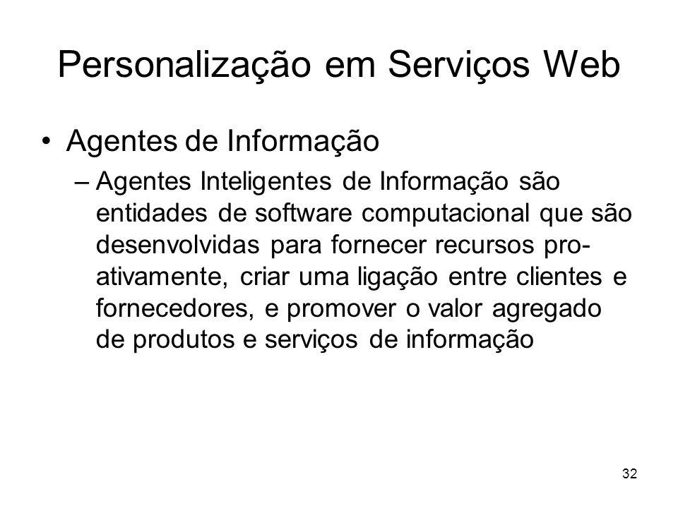 Personalização em Serviços Web