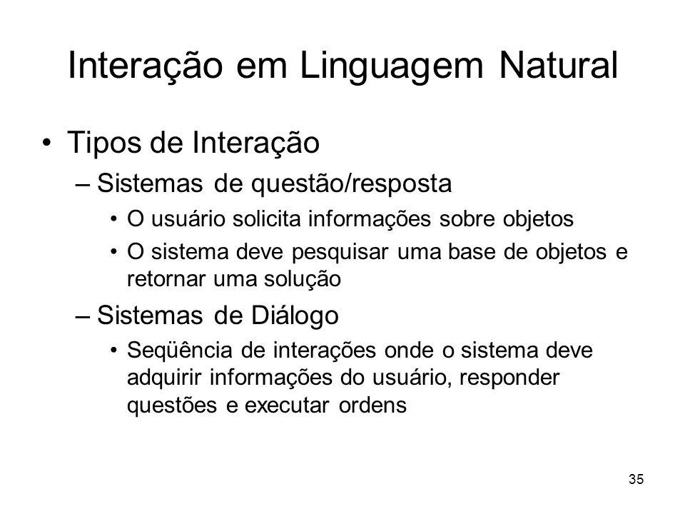 Interação em Linguagem Natural