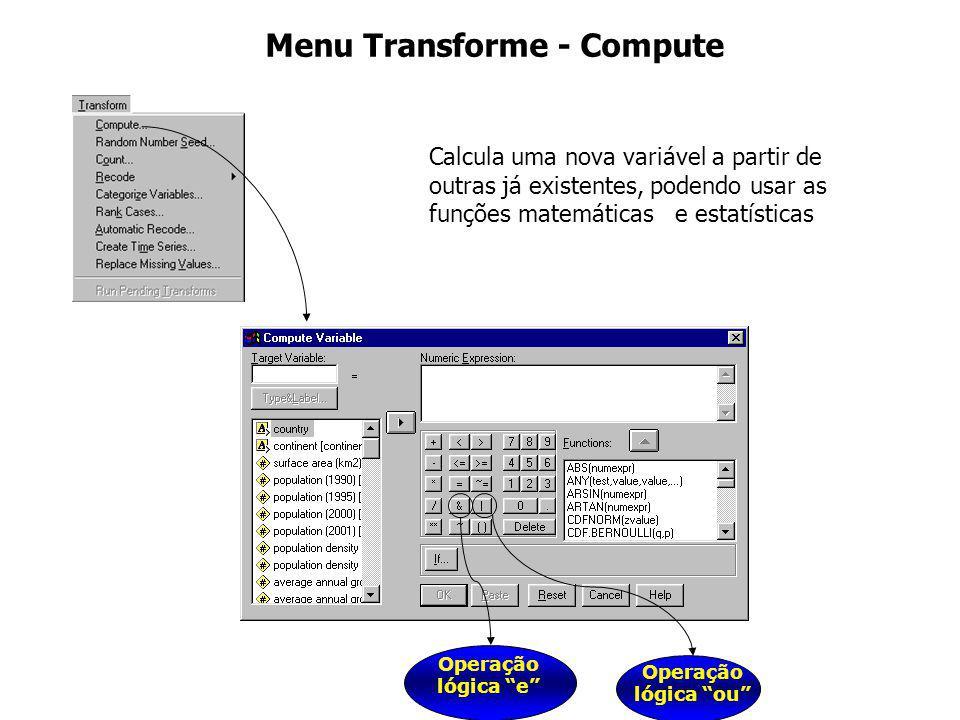 Menu Transforme - Compute