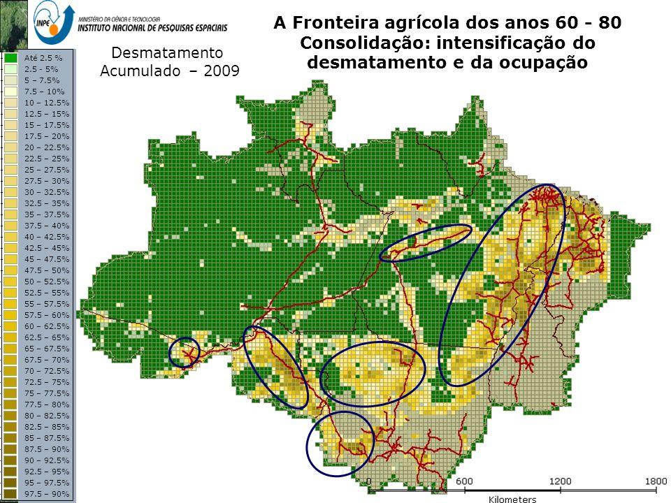A Fronteira agrícola dos anos 60 - 80