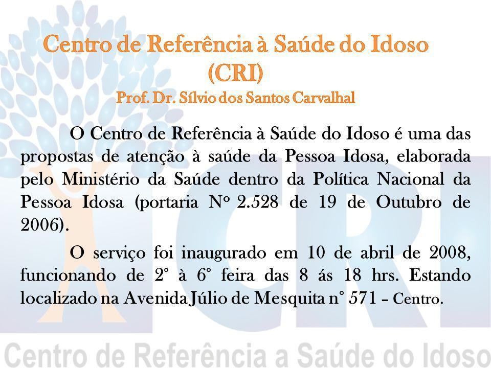 Centro de Referência à Saúde do Idoso (CRI) Prof. Dr