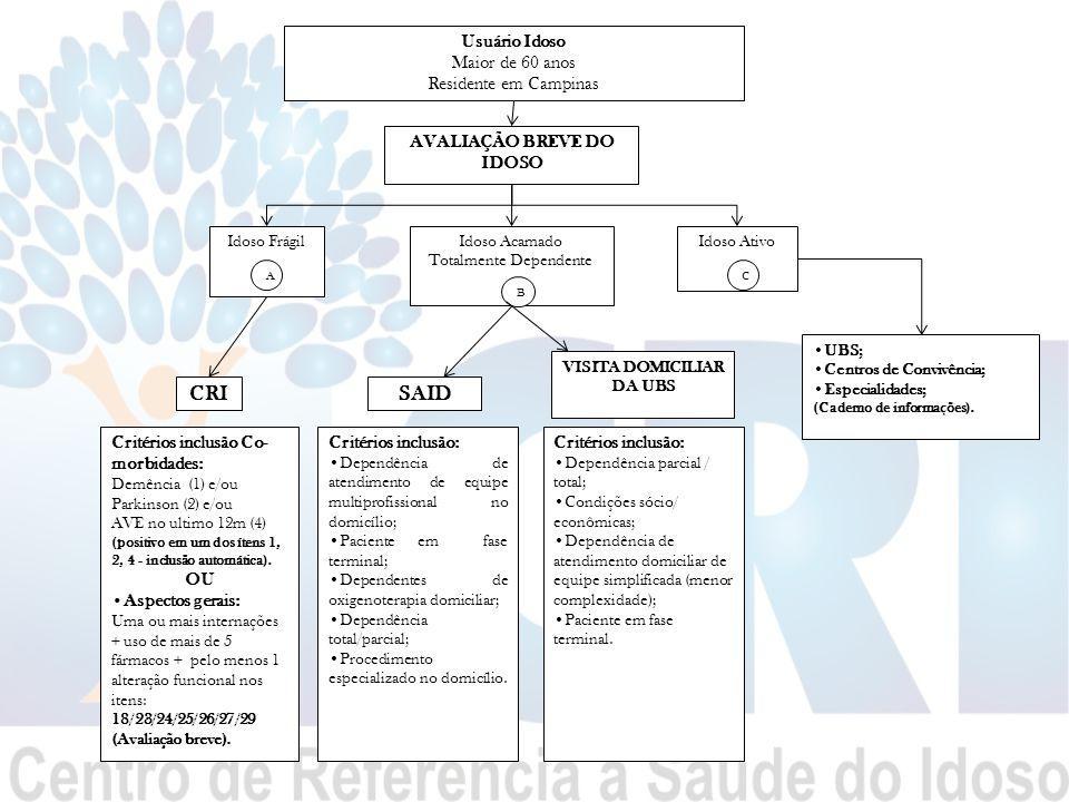AVALIAÇÃO BREVE DO IDOSO VISITA DOMICILIAR DA UBS