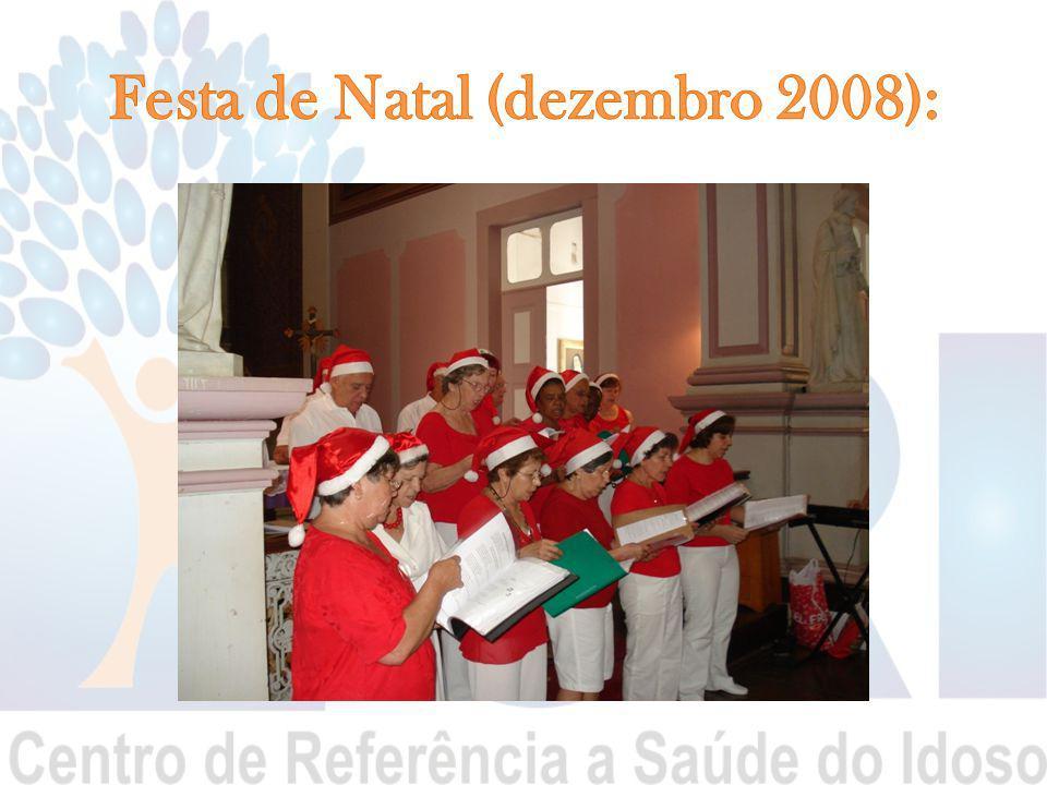 Festa de Natal (dezembro 2008):