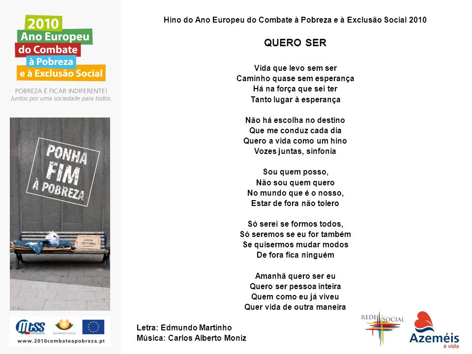 Hino do Ano Europeu do Combate à Pobreza e à Exclusão Social 2010