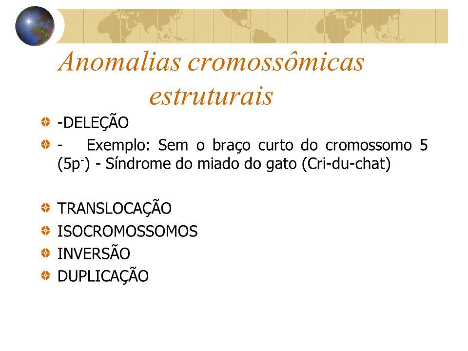 Anomalias cromossômicas estruturais