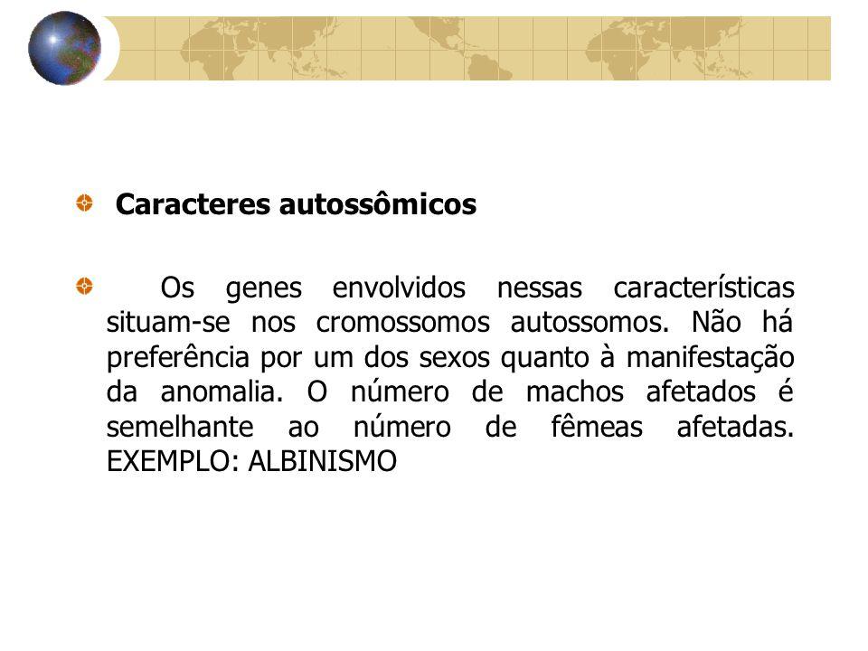 Caracteres autossômicos