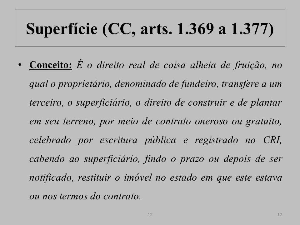 Superfície (CC, arts. 1.369 a 1.377)