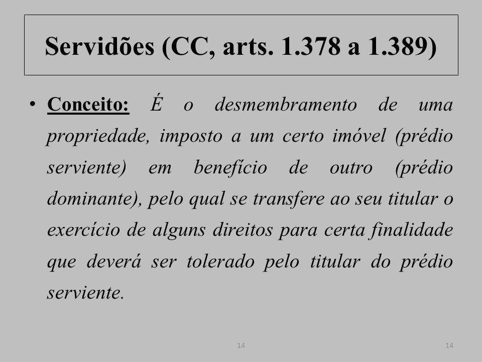 Servidões (CC, arts. 1.378 a 1.389)