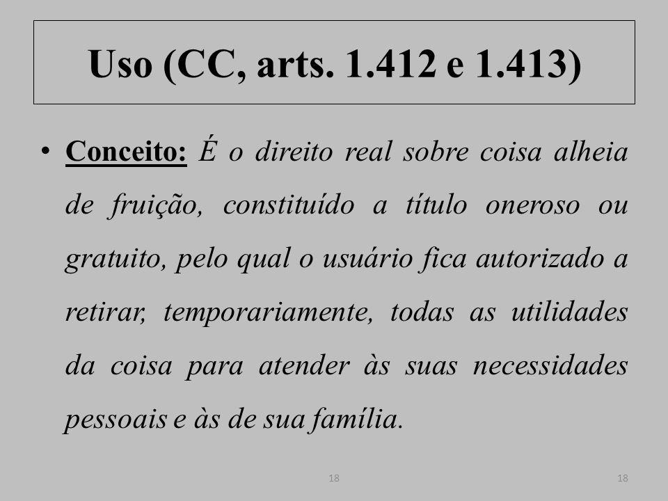 Uso (CC, arts. 1.412 e 1.413)